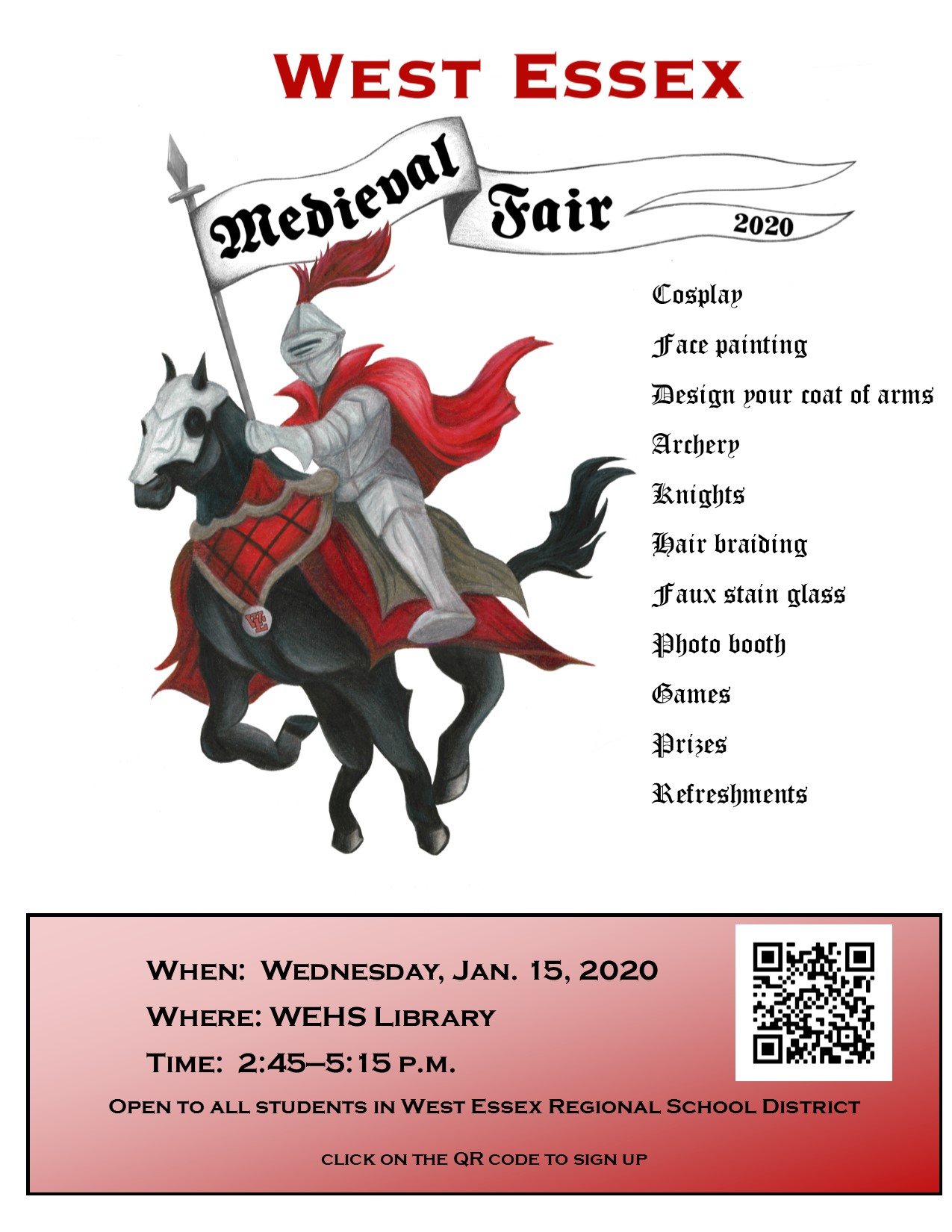 "Galloping knight with banner, ""Medieval Fair 2020"""
